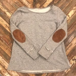 Tops - Local boutique find!!! Sweatshirt, elbow patches